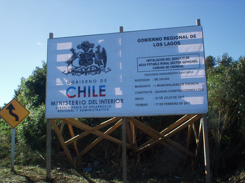 Agua Potable Rural Sector Quinched - Chonchi.